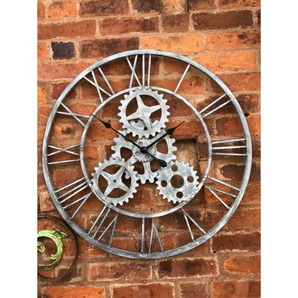 This Large Garden Wall Clock is a great addition to your exterior design. Product Information :76cm x 76cm. No Assembly Required.