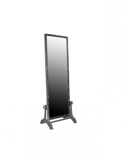 The Industrial Iron Mirror is truly a design of its own with its bold exterior it is sure to fit in an industrial setting. Height: 194cm Width: 76cm x 46cm.