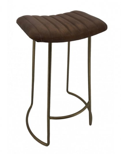 This Leather Bar Stool is just perfect for any modern bar interior. Upholstered in a classic brown leather. Product information: 50cm X 43cm X 76cm