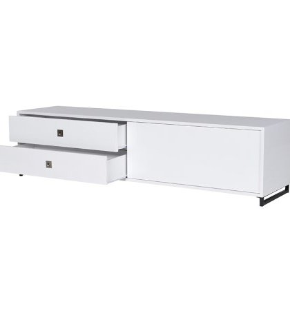 The White High Gloss Entertainment Unit is perfect for that living room entertainment setting. Dimensions: H: 450mm W: 1800mm D: 450mm