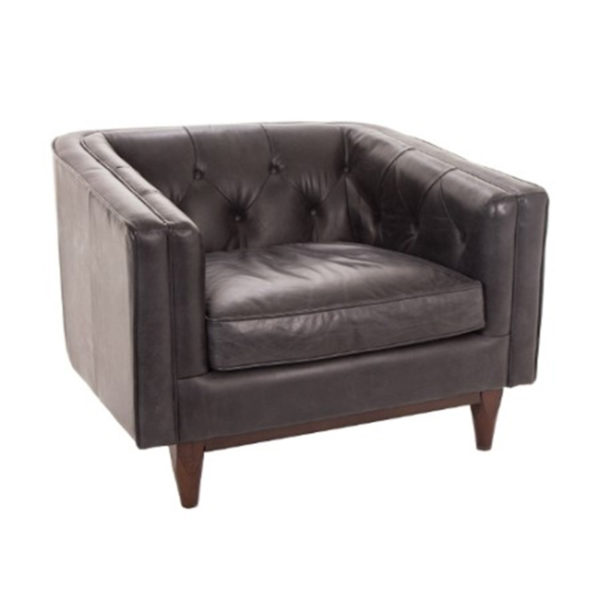 ee the Natty Chair in your home?This luxurious soft waxed finished Italian leather chair with dark walnut legs is as comfortable as it is stylish.