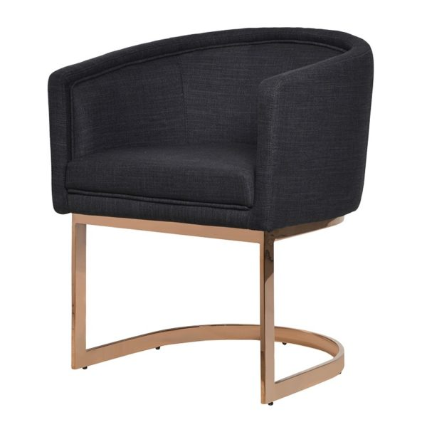 The Black Dining Chair Rose Gold Frame Is Perfect Sleek Addition To Any Room