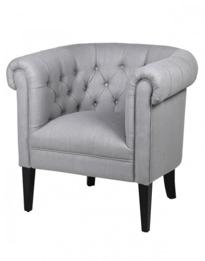 See the Clinton Club Chair in your home? This piece comes upholstered in a grey mixed Linen fabric. Dimensions: H: 740mm W: 840mm D: 740mm