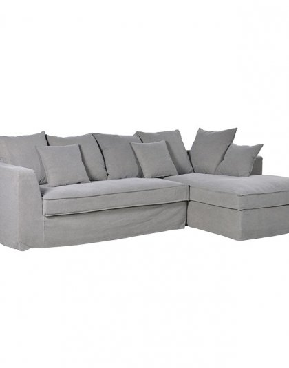See this Grey Corner Sofa in your home?This piece is perfect for those larger spaces needing that extra seating. Dimensions: H: 850mm W: 2700mm D: 1580mm