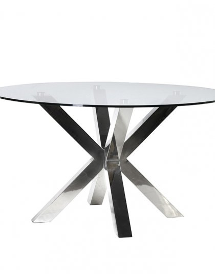 See the Terano Glass Dining Table in your dining room? This piece is the perfect addition to any dining room. H: 770mm Dia: 1400mm.