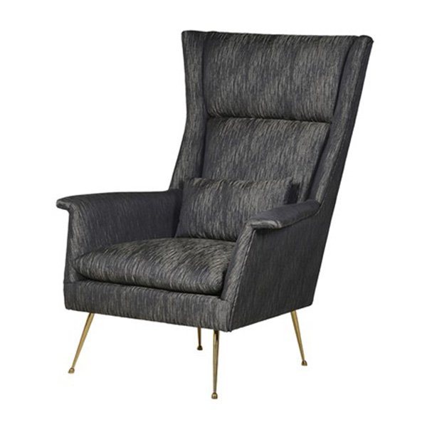 This Black Retro Armchair is just perfect of an office or even an extra addition to any setting.The piece comes upholstered in an embossed Linen fabric.