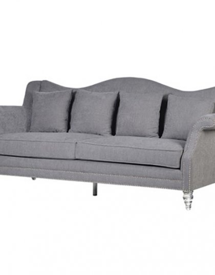 The elegant Caxton Grey Camelback 3 Seater Sofa is the perfect balance of comfy and stylish. Product Information:Dimensions: H: 950mm x W: 2230mm x D: 950mm