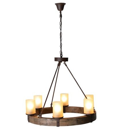 This Wooden Circle Chandelier is the perfect lighting for that log cabin feel. Product information: Height including chain: 1320mm.