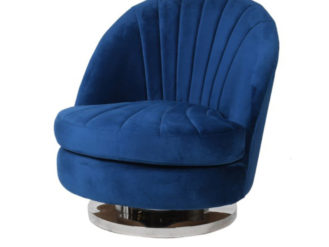 This Velvet Curve Chair is a great addition to any setting.Upholstered in a blue velvet with a flat chrome base. Dimensions: H: 780mm W: 700mm D: 830mm