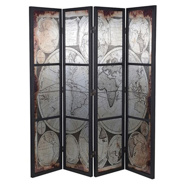See this Distressed Map Screen in your home? This piece brings a real elegance to any setting. Dimensions: H: 1805mm W: 1835mm