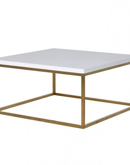 See the Gloss White Top Coffee Table in your Living Room setting? This elegant piece comes with a clean gloss white top and gold finished legs.