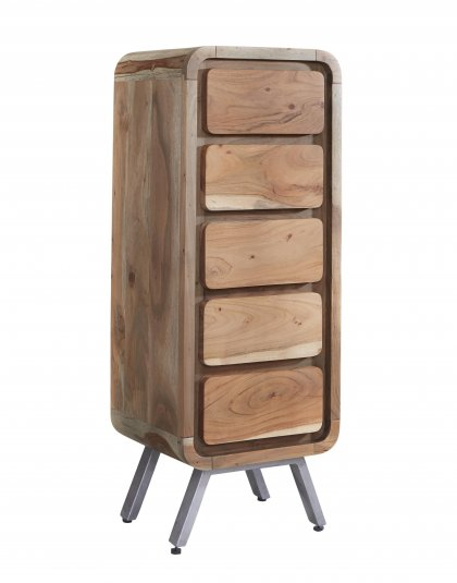 See this Aspen 5 Drawer Chest in your home? This range brings a new dimension to furniture making by combining reclaimed Iron and Wood.
