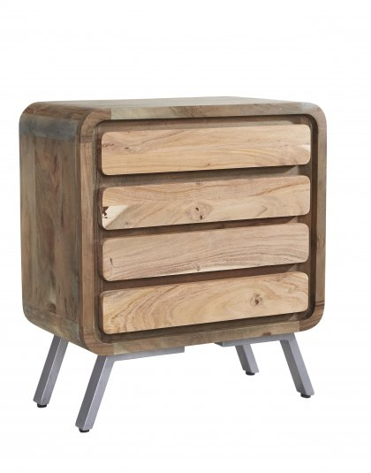 See this Aspen 4 Drawer Wide Chest in your home? This range brings a new dimension to furniture making by combining reclaimed Iron and Wood.