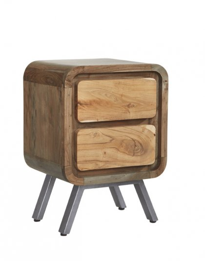 See The Aspen 2 Drawer Table in your home? This piece brings a new dimension to furniture by combining solid hardwood with reclaimed metal.
