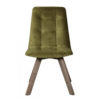 See the Atlanta Chair Wooden Legs in your home? The piece comes upholstered in green velvet with sturdy wooden legs for support.