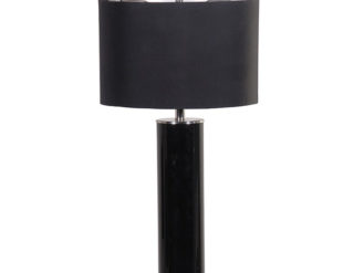 See this Black Cylinder Glass Lamp with Black Shade in your homes lighting collection?This piece has a sleek design which fits almost any interior setting.