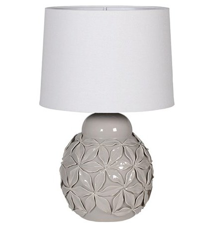 See this Grey Ceramic Flower Lamp in your home?This piece perfectly fits those smaller tables whilst brightening up those darker rooms.