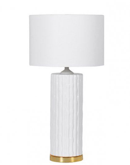 See this Ceramic Column Lamp with Shade in your homes lighting collection?This piece exudes elegance with its column design and gold base.