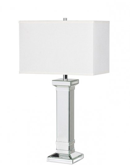 See this Square Column Table Lamp with Shade in your homes lighting collection? This piece carries a elegant design whilst still fitting your homes interior