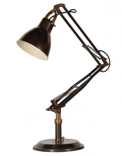 See this Dark Brass Angled Lamp in your homes lighting collection?This piece carries its own unique yet vintage design perfect for the office or bedroom.