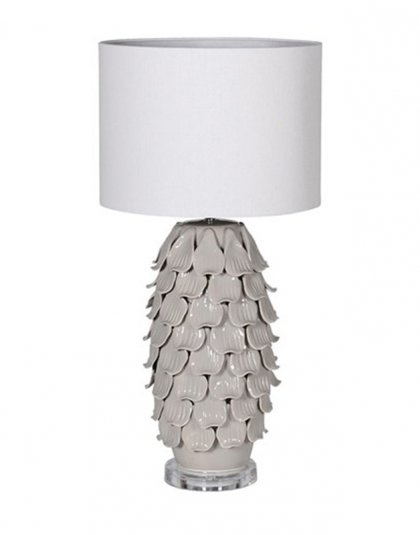 See this Grey Petal Lamp in your home?This piece perfectly fits those smaller tables whilst brightening up those darker rooms.