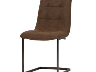 See this beautiful Hampton Chair in your home? This piece comes upholstered in a Brown Leather with sturdy Steel Legs. Width: 47cm Depth: 62cm Height: 93cm