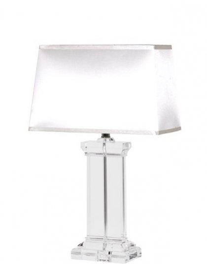See this Lead Crystal Table Lamp with Shade in your homes lighting collection? This piece has its own unique design with its lead crystal base.