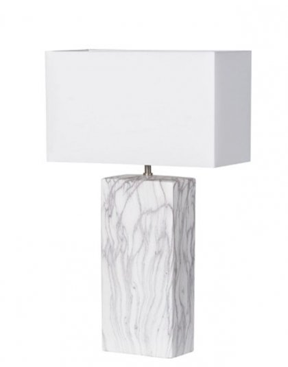 See this Marble Block Effect Lamp with Shade in your homes lighting collection.This piece defines elegance with its marble block effect base.