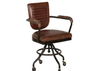 The Mustang Office Chair is the perfect addition for any home study or office. This industrial office chair will remain on trend for years to come.