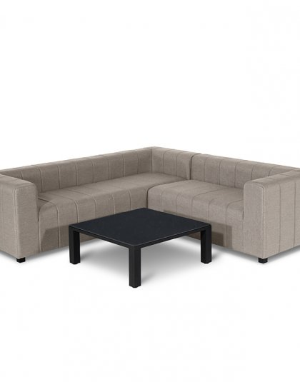 The Nexus Corner Sofa exudes a professional and practical design whilst fitting those smaller outdoor spaces.The piece comes with an additional coffee table