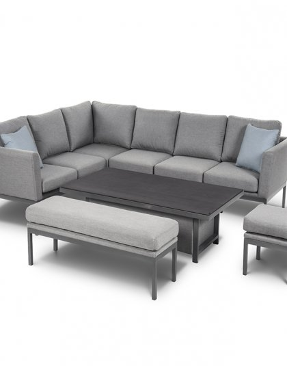 The Pulse Corner Dining carries all the traits of the more compact Pulse Sofa Set, with sumptuous back and base cushions.