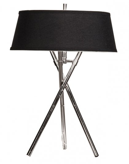 See this Small Tripod Lamp with Black Shade in your homes lighting collection?This piece carries its own unique industrial design. H: 660mm