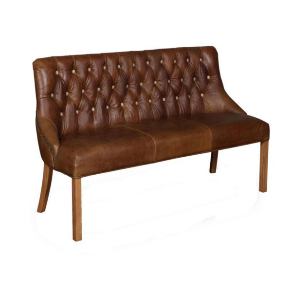 See this Classic Stanton 3 Seater in your home?The piece is upholstered in a classic brown Cerato leather with Light Oak Legs.