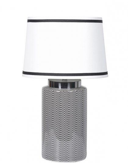 See this Tweed Pattern Lamp with Shade in your homes lighting collection.This piece exudes an elegant bold design in any interior setting.