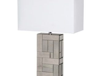 See this Antiqued Table Lamp in your homes lighting collection?This piece has a clean and contemporary design which will fit any interior setting.