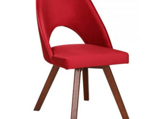 See the Dex Chair in your home? The piece comes upholstered in a vibrant red fabric with wooden legs for support. Width: 49 cm Depth: 59 cm Height: 86 cm