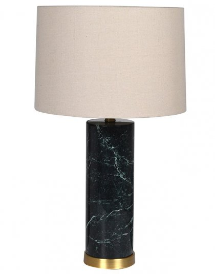 See this Dark Green Marble Lamp in your homes lighting collection? This piece exudes a modern yet sophisticated design with its dark marble base.