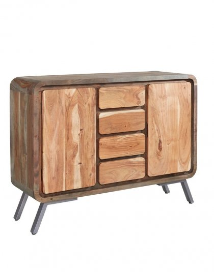 See the Aspen Large Sideboard in your home? this range offers a new dimension to furniture by combining the solid hardwood with reclaimed metal.