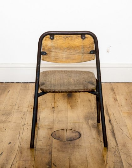 See this Vintage School Chair in your furniture collection.This unique piece carries a blast from the past and is just perfect for those smaller spaces.