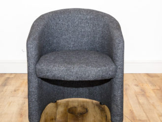 See this Bespoke Grey Tub Chair in your home? Perfect for those smaller spaces needing some extra seating. Height: 75CM Width: 64CM Depth: 60CM