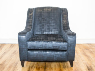 See this Bespoke Blue Arm Chair in your home? This piece comes upholstered in a mixed blue fabric.Perfect as an extra seat in most interior settings.