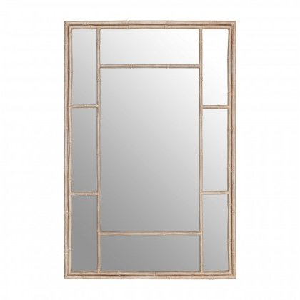See this Zariah Antique Silver Panelled Wall Mirror in your home?A large rectangular wall mirror with a distressed, antique silver coloured frame.