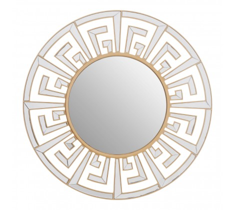 See the Gerda Wall Mirror in your home? Incorporate a luxe accent into interiors with this gold finished wall mirror. W100 x D2 x H100cm