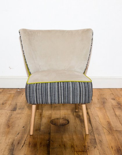 See this Bespoke Chair in your home? This piece comes upholstered in three different fabrics. Perfect for those smaller spaces needing extra seating.