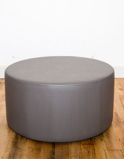 See this Bespoke Footstool in your home? This piece comes upholstered in grey vinyl. A perfect addition to any interior Setting.