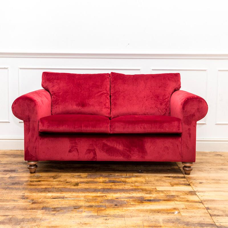 Bespoke Red 2 Seater Sofa
