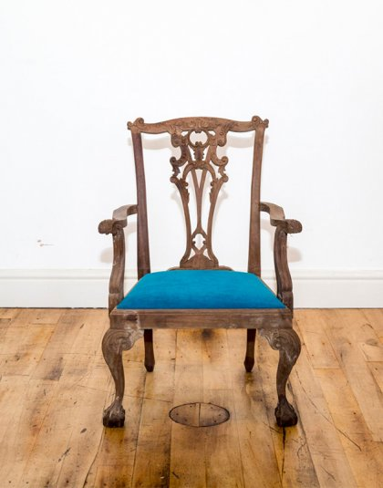 See this Bespoke Wooden Chair W/ Upholstered Seat in your home?This piece is the perfect addition to any seating collection.