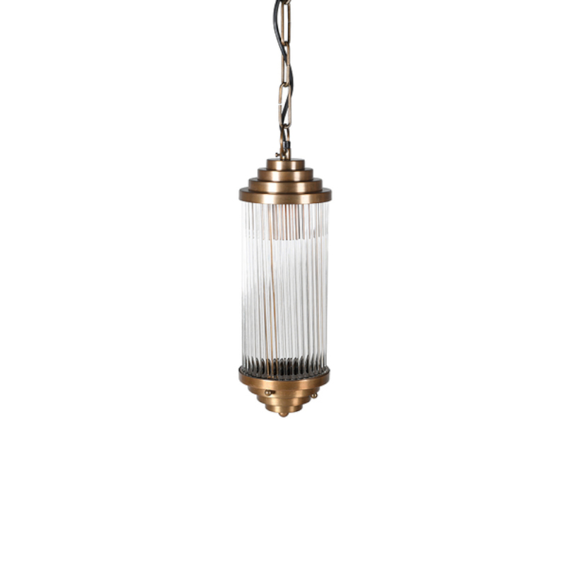 See this Small Brass Pendant Light in your homes lighting collection?The piece is made from glass whilst being finished with unique brass detailing.