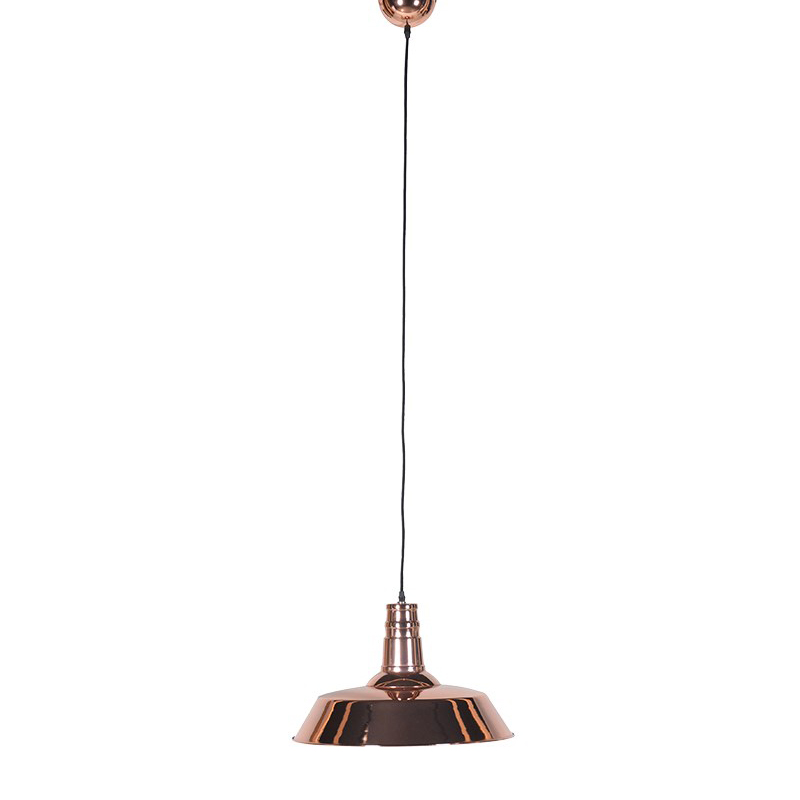 See this Copper Shade Pendant Light in your home?This piece is the perfect addition to any homes lighting collection with its clean copper design.