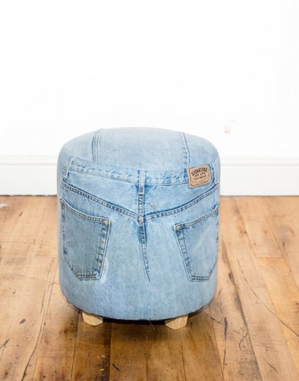 See this Bespoke Denim Footstool in your home?This unique piece comes completely upholstered in 100% Denim.Perfect as a fun footstool or an extra seat.